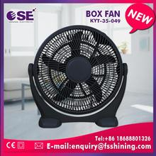 Manufacturer wholesale se 12 inch box fan with stand 1pc/color box5-layer