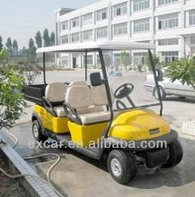 4 seaters Trojan battery electric utility cart with a small cargo golf buggy car