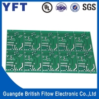 Hot sale green solder mask lead free double sided pcb circuit board for wholesale