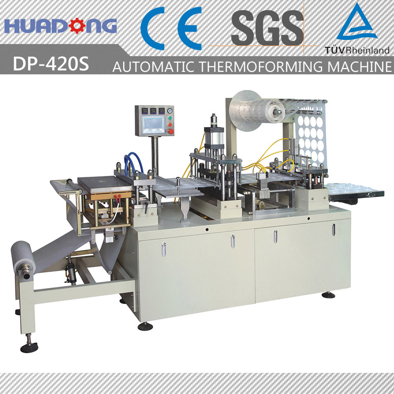 Automatic Plastic Tray Forming Cup Lid Thermoforming Making Machine