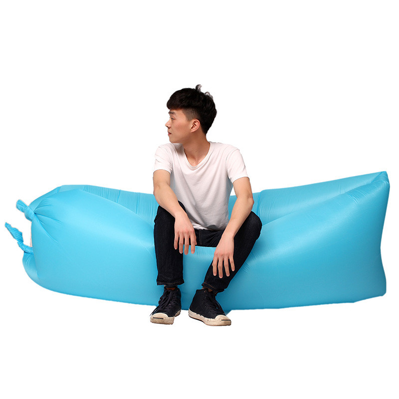 2017 trending promotion portable outdoor beach camping square inflatable air sofa