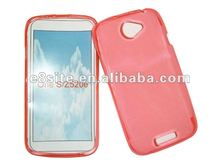 Glossy TPU Gel Cell Phone Cover Case For HTC One S/Z520e