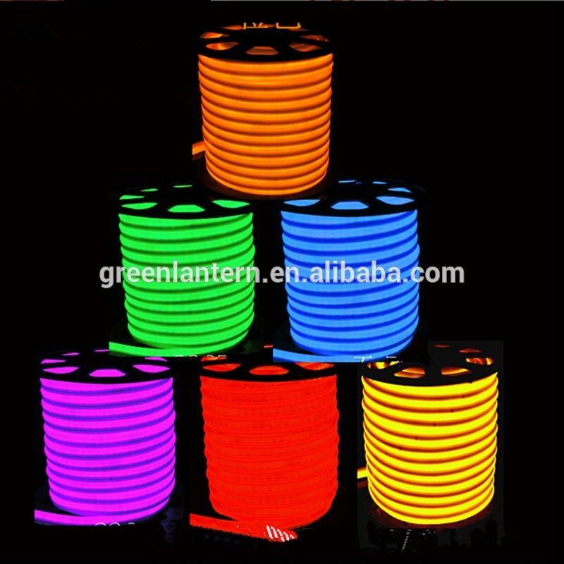 Flexible Light Tubeled Round Tube Rope 120cm Replacement Double Color Rgb 240v Neon Led 18w