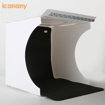 Home foldable background photo studio box led light mini portable photo studio