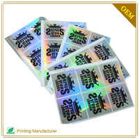 Top Quality Certificate Transparent Id Card Hologram Stickers In China