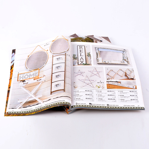 A4 customized catalogue printing with glossy art paper