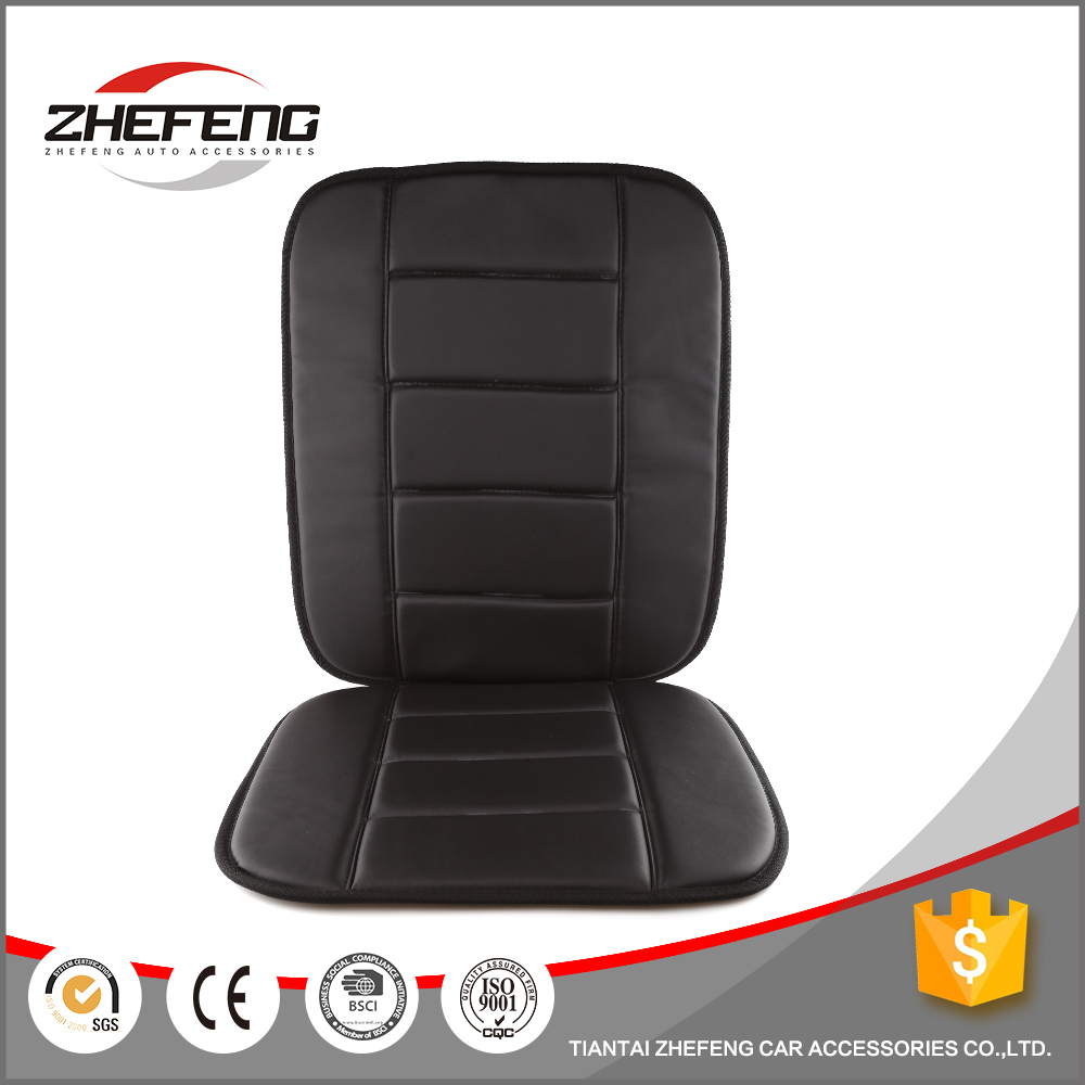 Manual design waterproof luxury black leather car seat cover