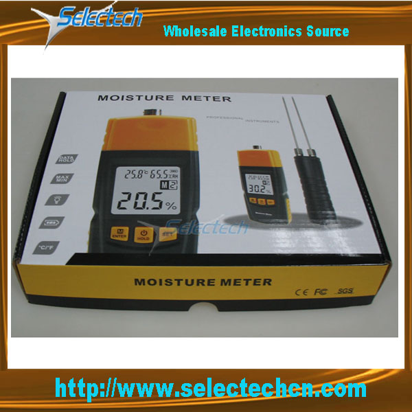 SE-620 digital Wood Moisture Meter With 2 Pins LCD display Temperature Meter Humidity Meter