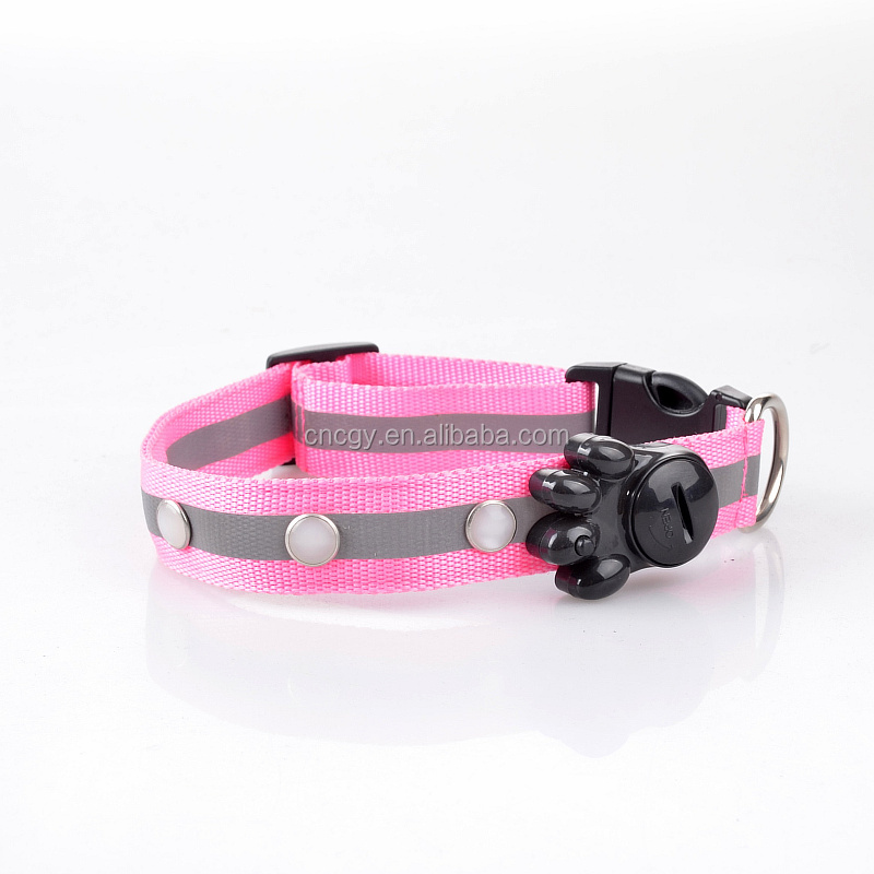 Factory Wholesale High Quality USB Flashing Lights Pink Floyd Dog Collar