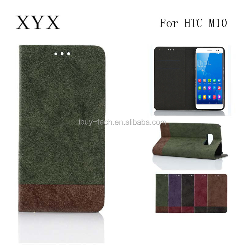 Custom Cover Wholesale Wallet PU Leather Cell Phone Case Wallet Design For HTC One <strong>M10</strong>