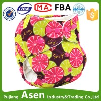 Asenappy china factory hot diaper girls washable baby cloth diapers