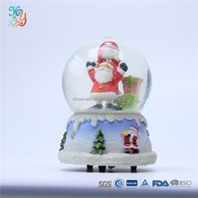 Xmas ornament souvenir santa claus glass snowball custom snow globe