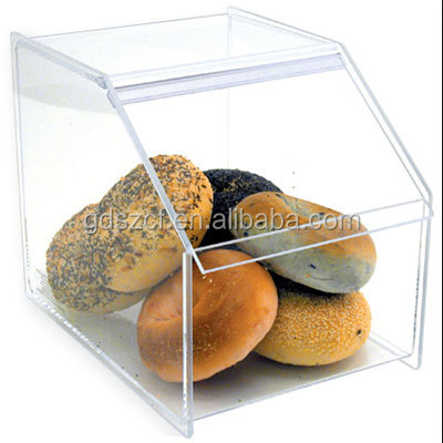 Eco-friendly material clear acrylic bakery display case with experienced factory handmade