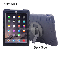 3 in 1 waterproof shockproof dustproof silicone case for ipad air 2 with stand