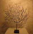 Modern home decorative metal tree table sculpture