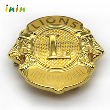 Make your own logo the lion club metal car emblem badge wholesale