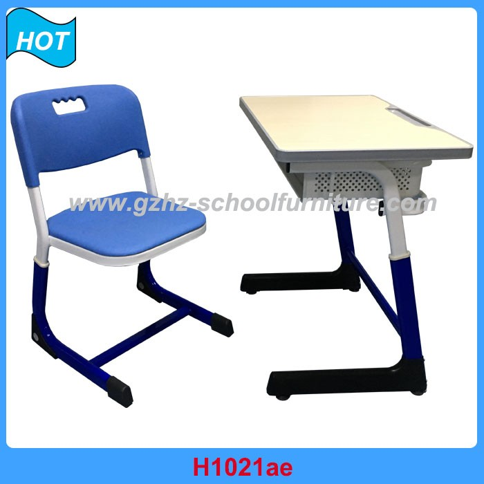 Modern Pink Student Desk Chair Adjustable Trapezoid Student Table And Chair  Combo ...