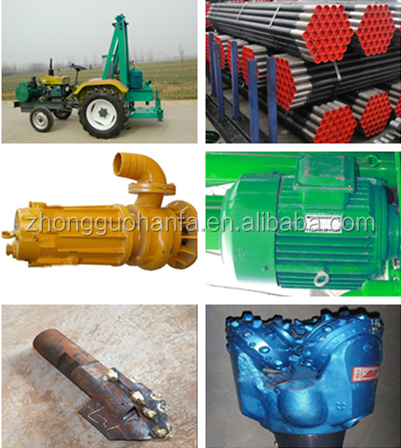 120m depth !water well drilling equipment portable drilling rig, HF100T tractor mounted water well drilling rig