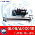High quality electric water cooling enamel ozone generator tube / ozone generator spare parts