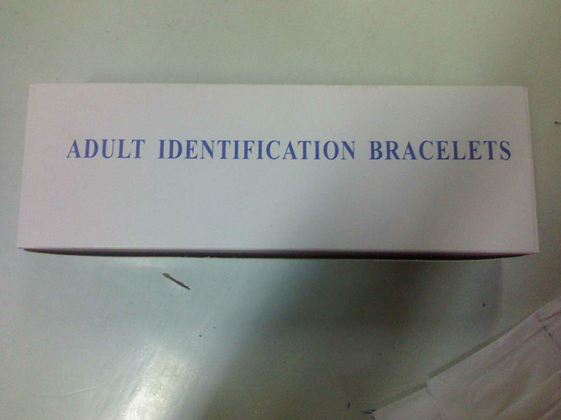patient identification bands / patient id band/ Hospital Identification Bands / id bracelets/band identification