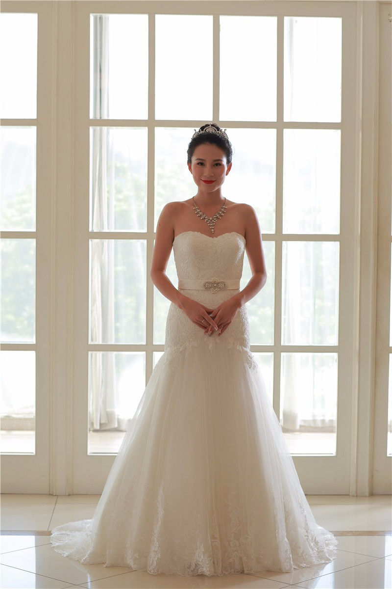 New Model Cheap Elegant Ivory Mermaid Wedding Dress 2016