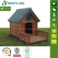 DFPets DFD3019 Outdoor Bitumen Roof Wooden Dog House With Balcony