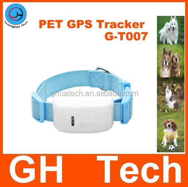 GH Mini gps tracker pet G-T007 Dog gps tracking device with 80cm adjustable dog collar