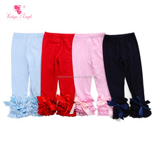 hot sale baby organic icing legging wholesale children's boutique clothing plain print girls ruffle pants