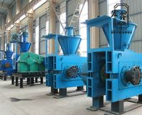 Professional dry powder briquette making machine / coal powder ball pressing machine manufacturer