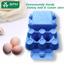 Molded Pulp customized recycle paper egg tray for farm and supermarket
