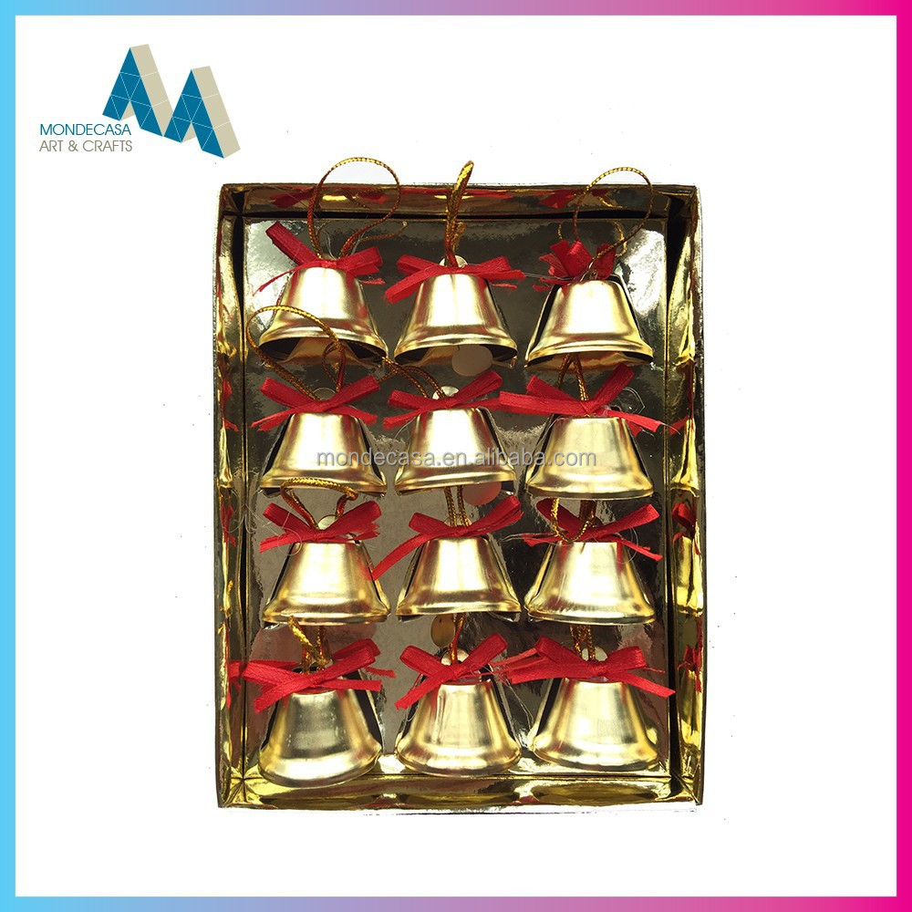 new innovative products indoor christmas decorations metal jingle bell