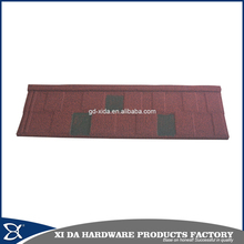 Popular sand stone coated metal steel roofing tiles in Africa