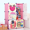 6 cubes diy bedroom furniture plastic baby cabinets FH-AL0022-6
