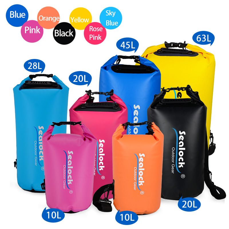 2L-30L Outdoor Camping Beach Lightweight Waterproof Dry Bag Sack Pack