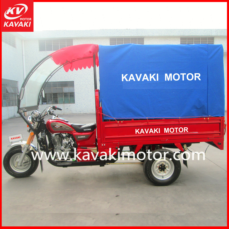 Guangzhou manufacturers reverse trike taxi passenger tricycles enclosed 3 wheel motorcycle