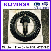 Mitsubishi Canter Crown wheel Pinion for Fuso 8/37 MC834990 16mm or 20mm with holes