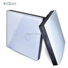 433Hz wall instal crystal glass touch control,waterproof wifi control wireless 2 gang 1 way touch <strong>switch</strong>(SM-002)