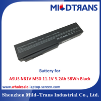 Mildtrans Factory price Replacement Laptop Battery for ASUS N61V M50 11.1V 5.2Ah 58Wh Black