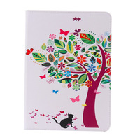 for Ipad6 Tree Printed Leather Case Wallet Cover Stand Leather Case for ipad6