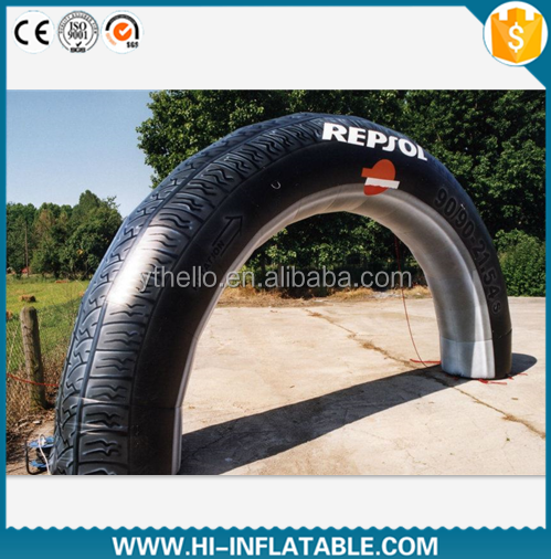 Gaint inflatable tire arch for advertising