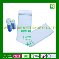 Bridge 100% fully biodegradable kitchen waste garbage PLA plastic bag