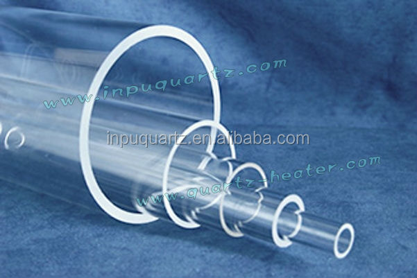 Transparent quartz tube Quartz Glass tube evacuated glass tube