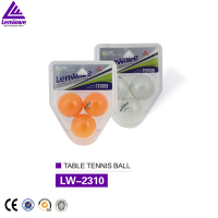Blister packing 3balls 2-star factory Ping-Pong Ball table tennis ball