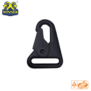 Final promotion! black coated trigger snap carabiner hook