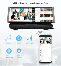 Android Wifi 4G Car GPS mirror Navigator Dashcam 3-in-1 Video Recorder DVR Camera Dual Lens Full HD1080P Two Cameras Dvr