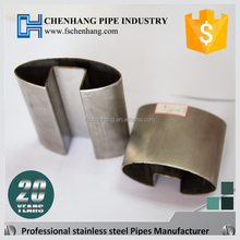 Unit weight building stainless steel polishing groove pipel and tubes