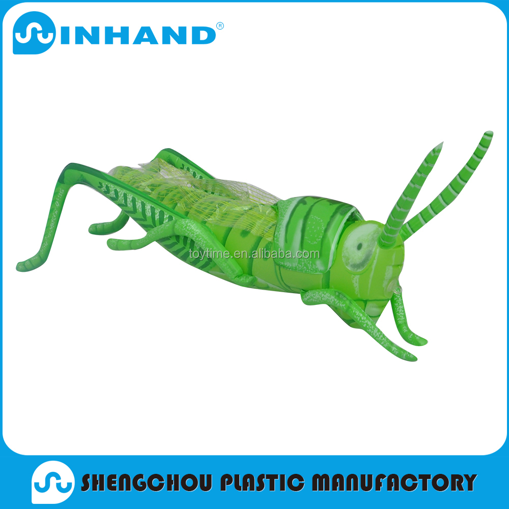Green inflatable animal grasshopper toys for promotion