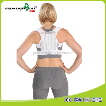 Samderson Hot Selling C1CLPO-301 Four Glass Fiber Splint Mesh Back Support, Posture Corrector, Back Support Belt