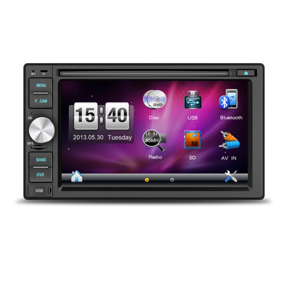 Pioneer Car Audio with 6.2 inch touch screen for most cars with GPS Bluetooth Radio DVD VCD USB