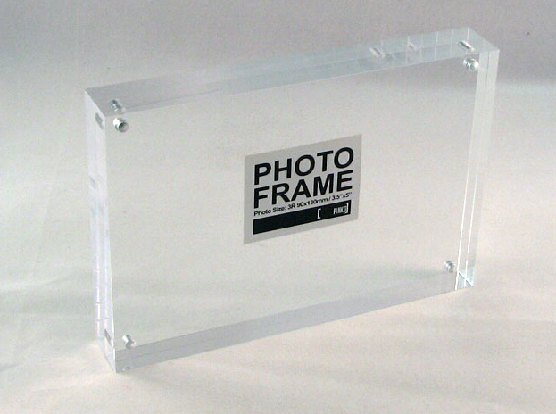 Wholesale mini acrylic cube fridge magnetic photo frame